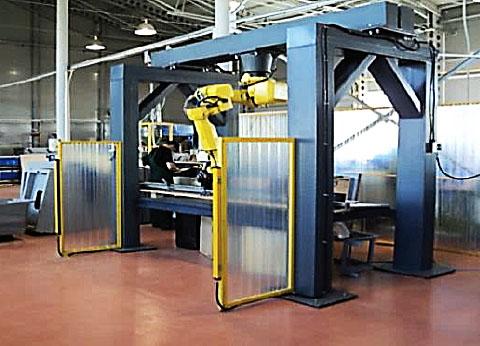 Быстро-перенастраиваемый робототехнический комплекс обработки изделий из пластика и стеклопластика -1
