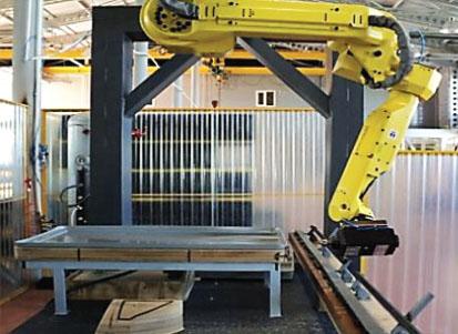 Быстро-перенастраиваемый робототехнический комплекс обработки изделий из пластика и стеклопластика