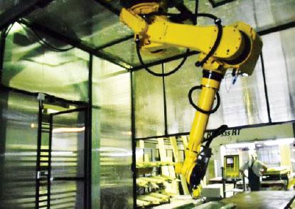 Перенастраиваемый робототехнический комплекс обработки изделий из стеклопластика-1