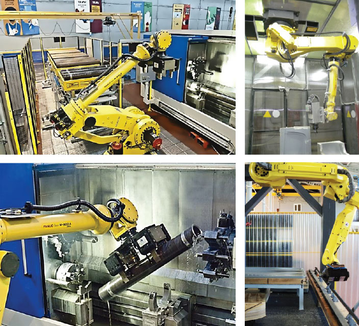 Робототехнические комплексы для механообработки
